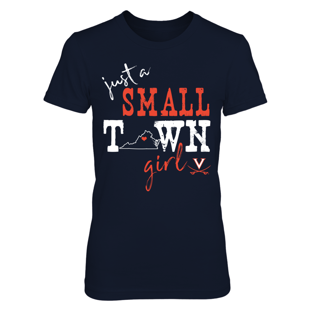 Virginia Cavaliers - Small Town Girl - State Outline Front picture