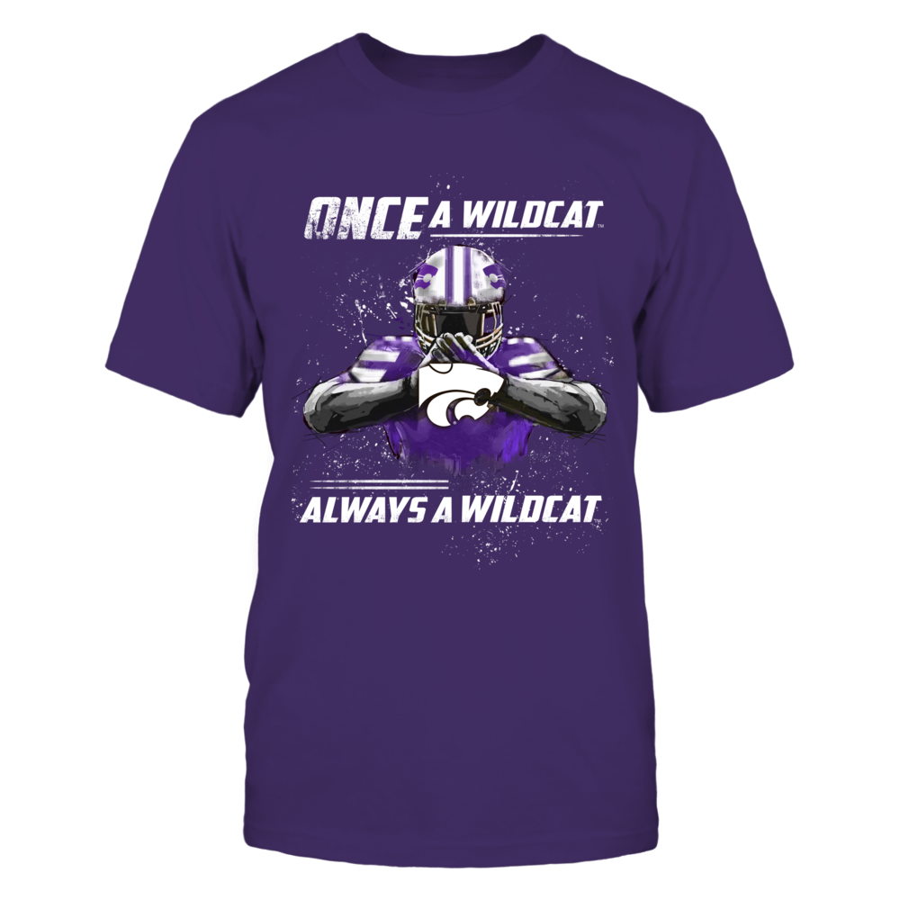 Kansas State Wildcats - Once a Wildcat - Purple Shirt Front picture