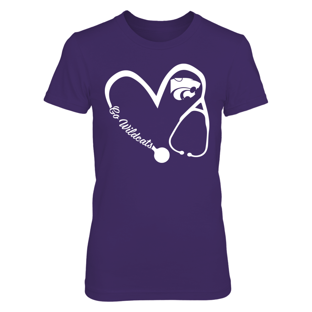 Kansas State Wildcats - Heart 3-4 - Nurse - IF-IC17-DS37 Front picture