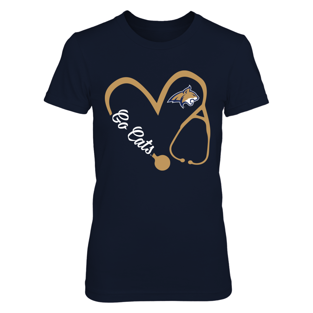 Montana State Bobcats - Heart 3/4 - Nurse  - IF-IC32-DS33 Front picture