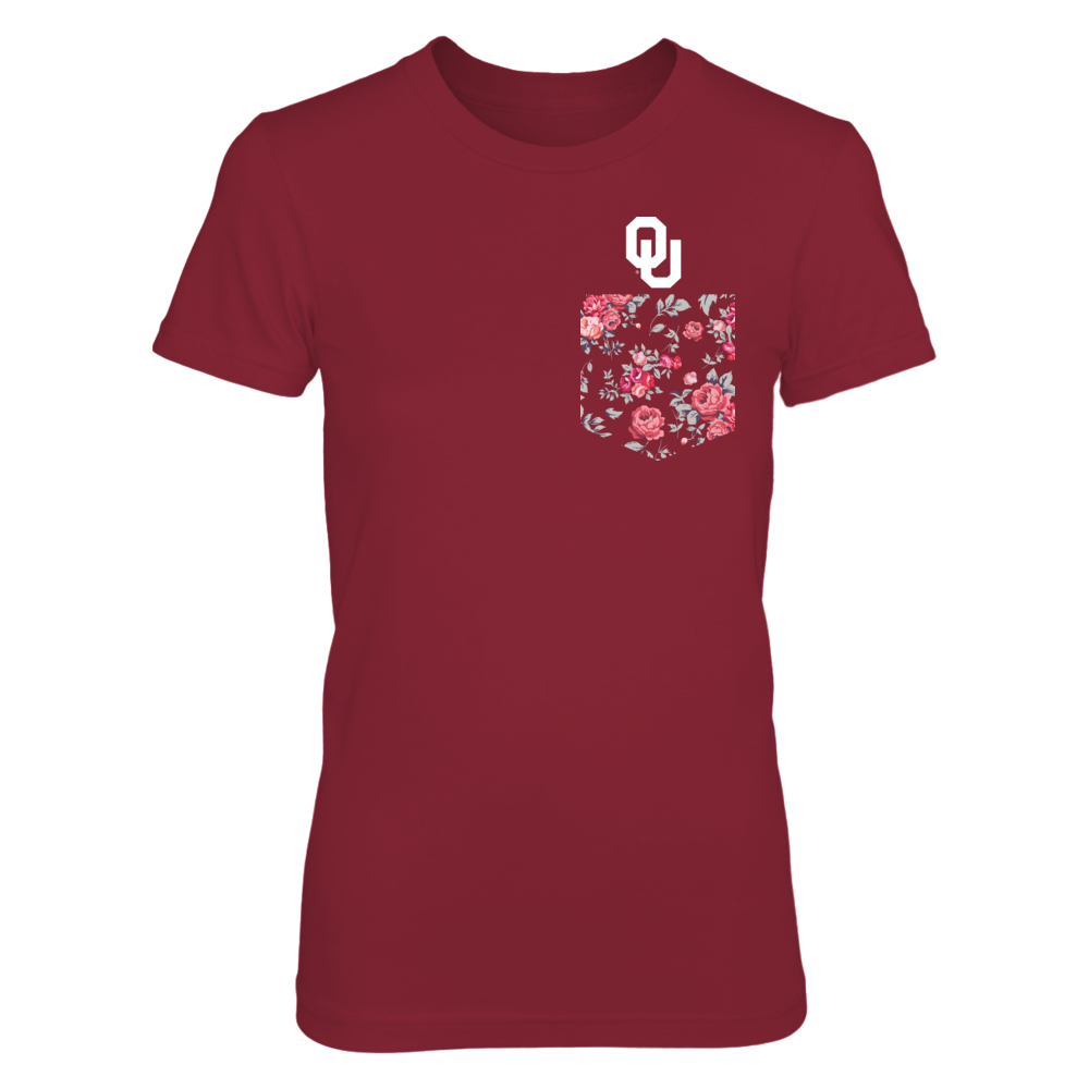 Oklahoma Sooners - Red & Black Vintage Rose Front picture