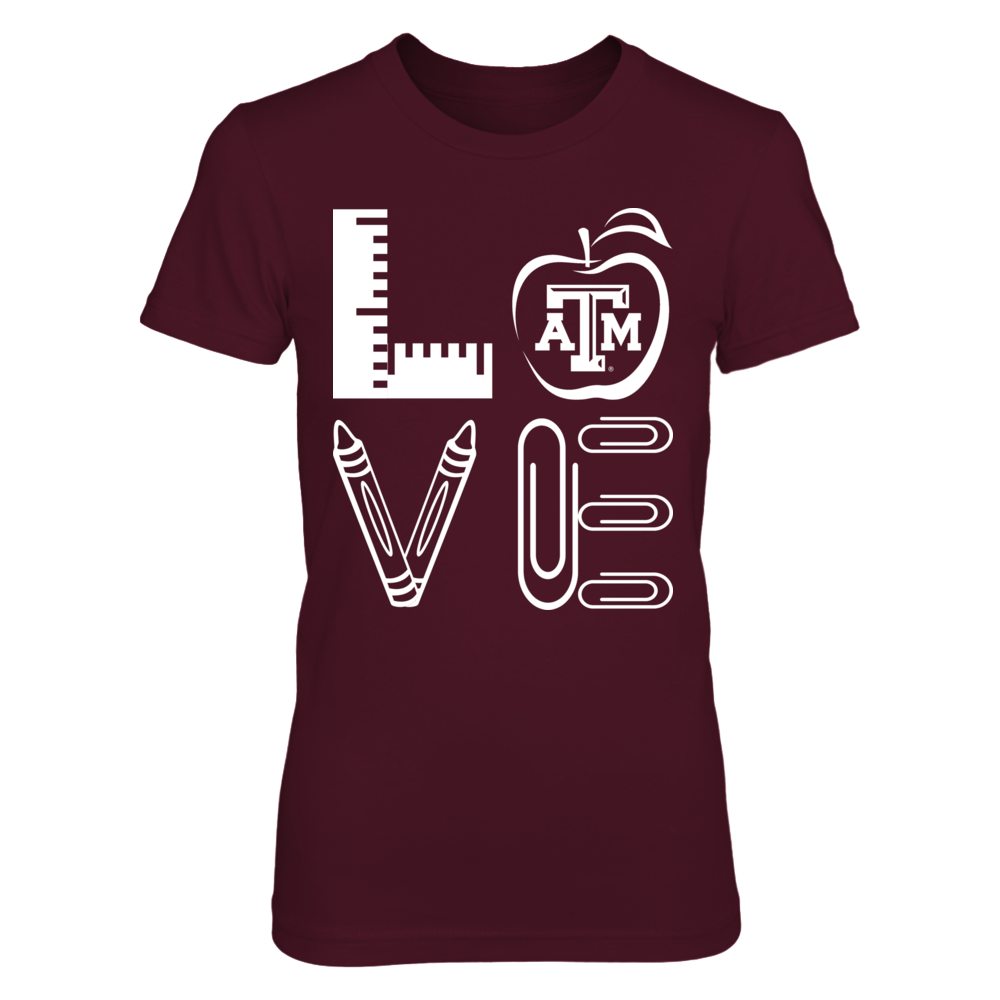 Texas A&M Aggies - Stacked Love - Teacher Things - IF-IC13-DS45 Front picture