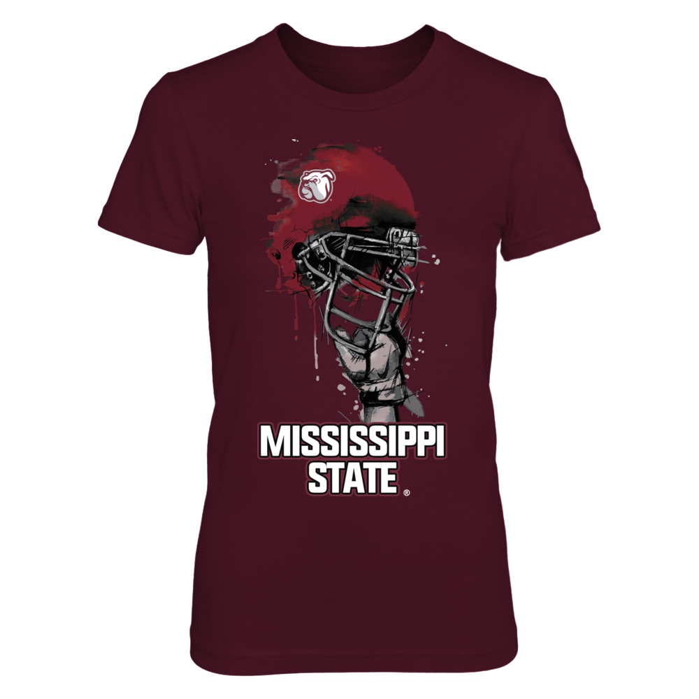 Rising Helmet - Mississippi State Bulldogs Front picture