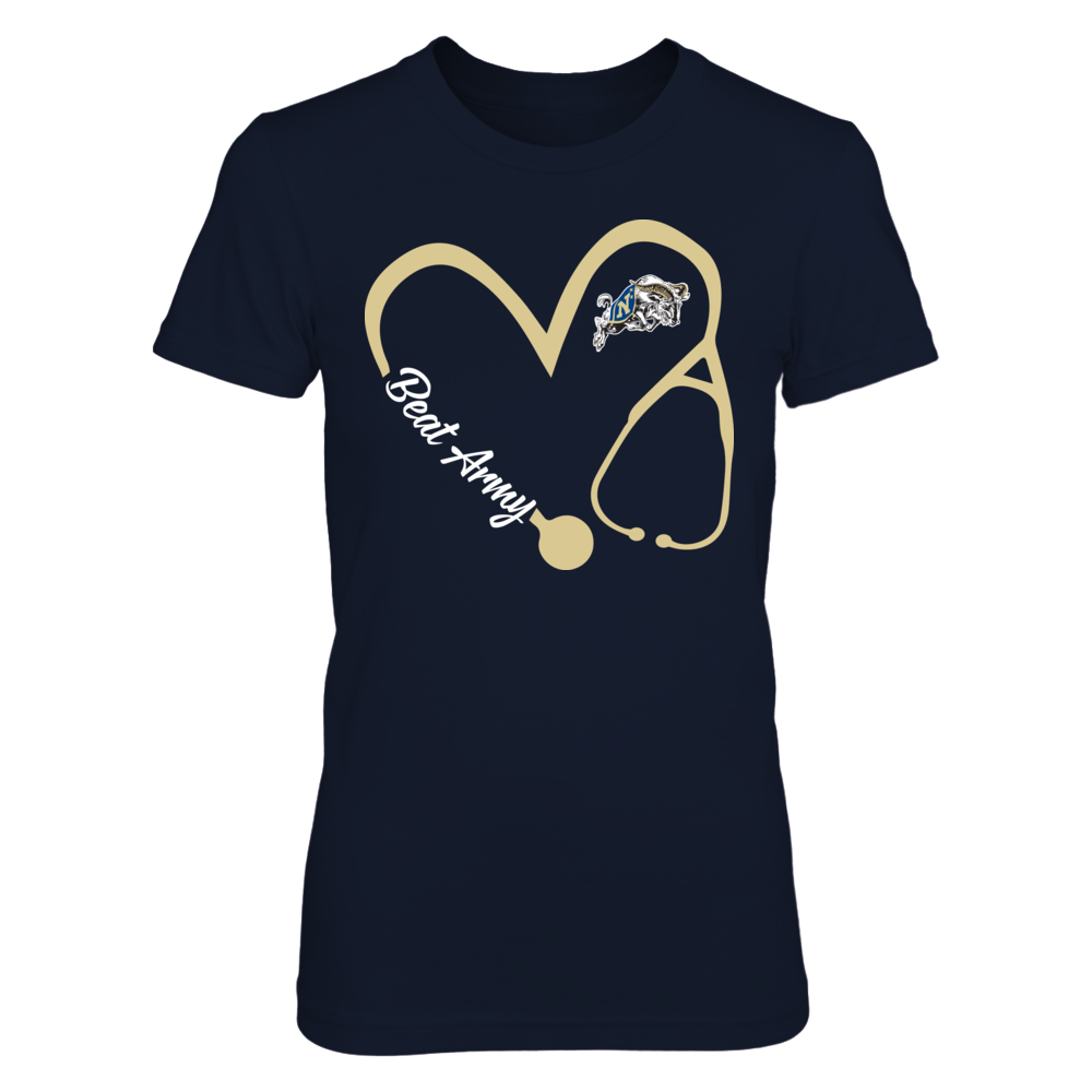 Navy Midshipmen - Heart 3/4 - Nurse Front picture
