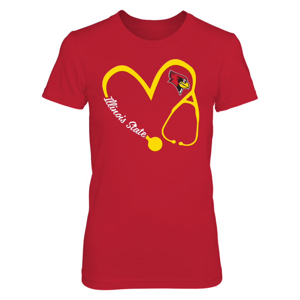 Illinois State Redbirds - Heart 3/4 - Nurse Front picture