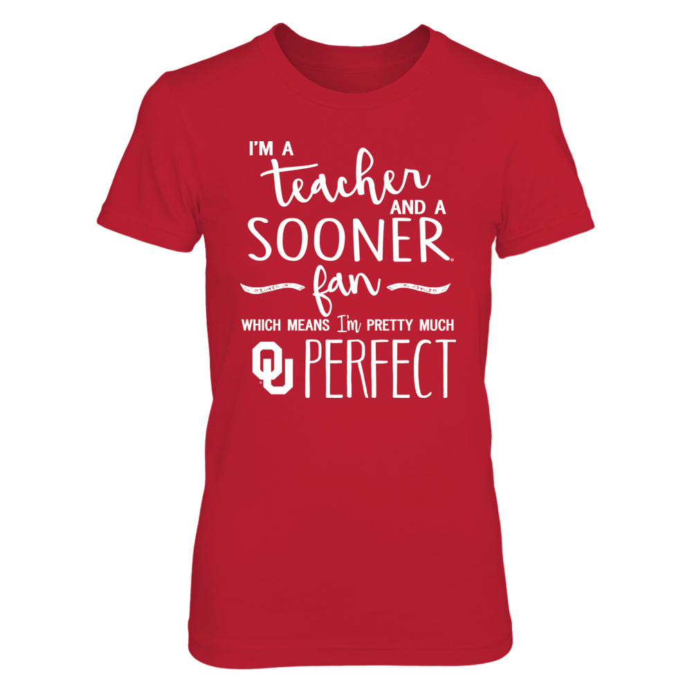Oklahoma Sooners - Perfect Teacher - Red shirt Front picture