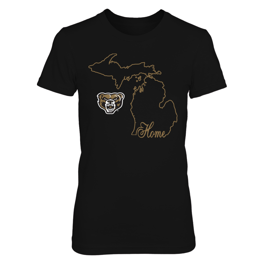 Oakland Golden Grizzlies -   Home In State Outline Front picture