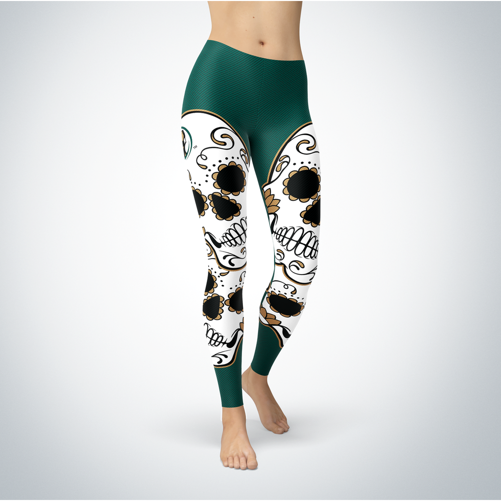 Sugar Skull Leggings - Bemidji State Beavers Front picture