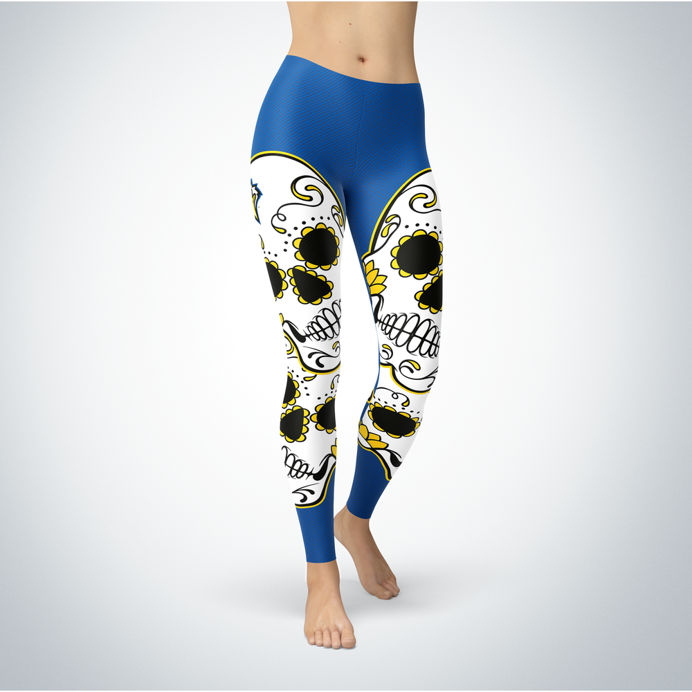 Sugar Skull Leggings - Morehead State Eagles Front picture