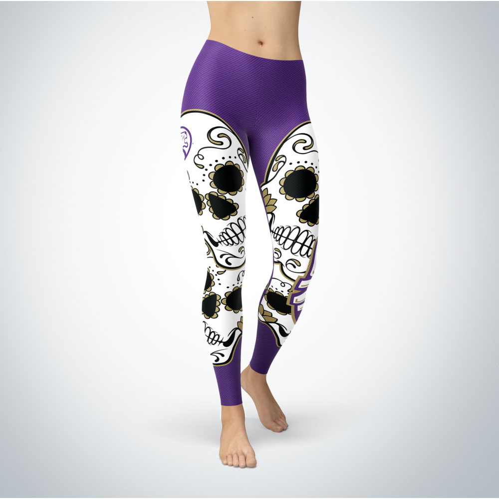Sugar Skull Leggings - North Alabama Lions Front picture