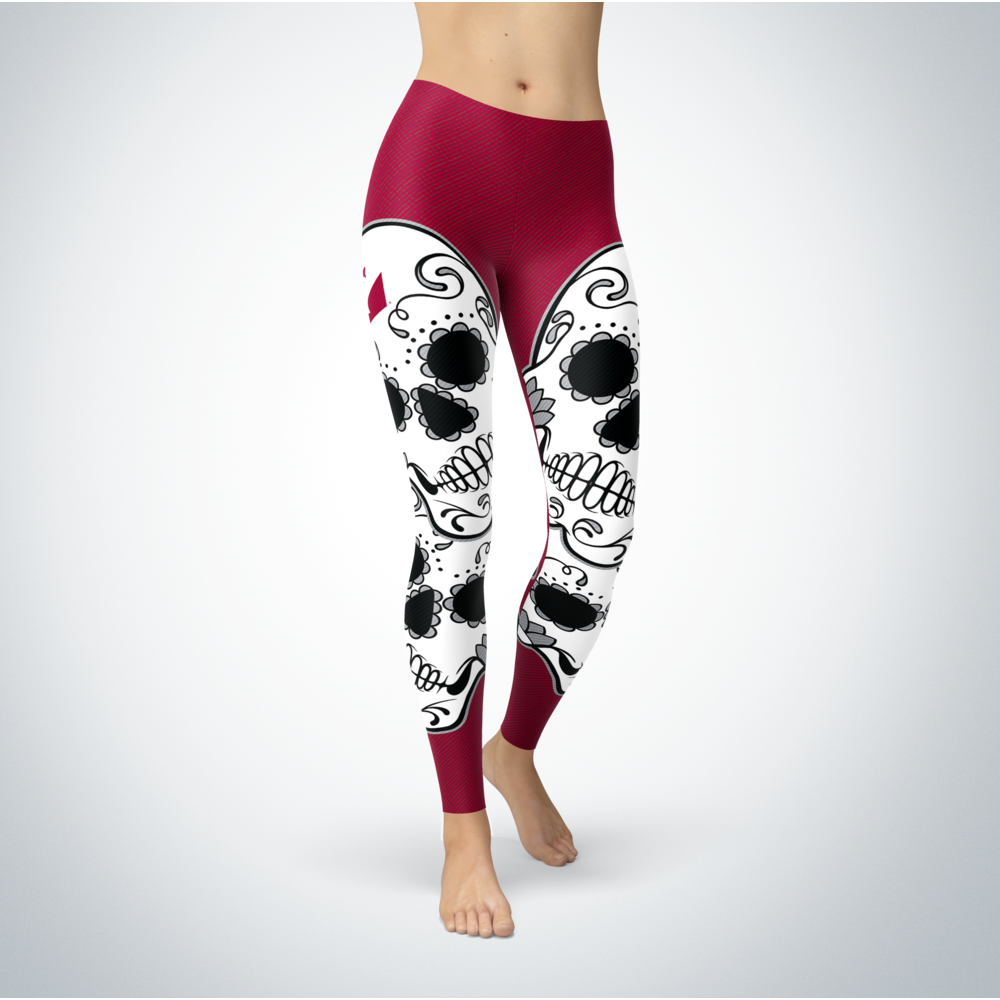 Sugar Skull Leggings - Wisconsin-La Crosse Eagles Front picture