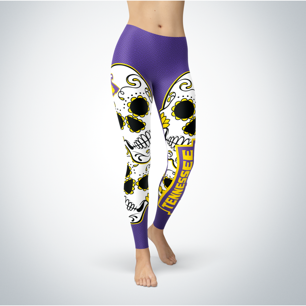 Sugar Skull Leggings - Tennessee Tech Golden Eagles Front picture