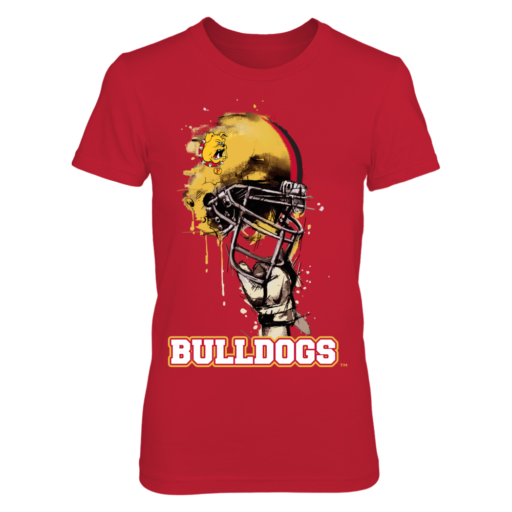 Ferris State Bulldogs - Rising Helmet Front picture