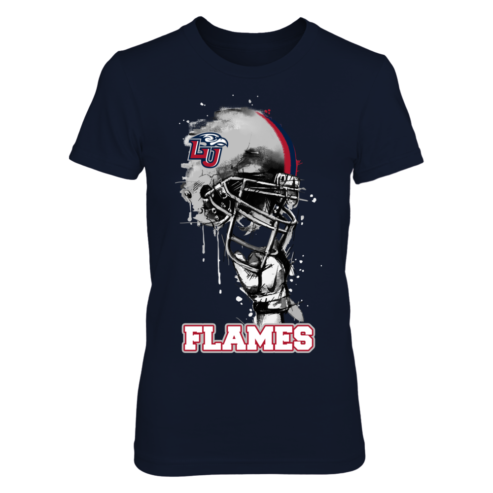 Liberty Flames - Rising Helmet Front picture