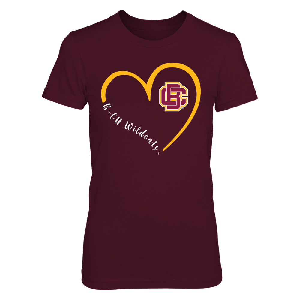 Bethune-Cookman Wildcats - Heart 3/4 Front picture
