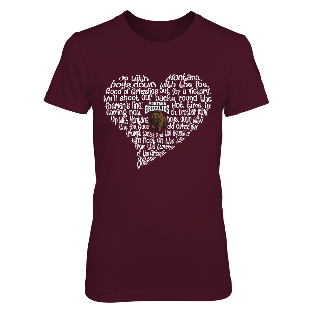 Montana Grizzlies - Fight Song Inside Heart Front picture