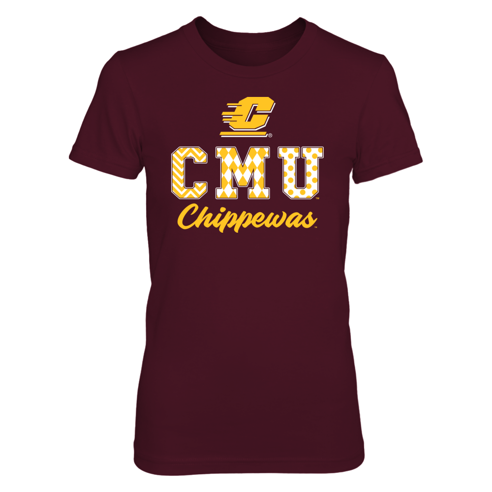 Central Michigan Chippewas - Patterned Letters Front picture