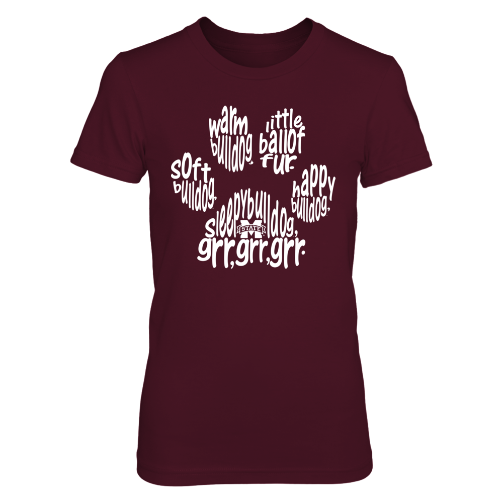 Mississippi State Bulldogs - Soft Warm Inside Paw Front picture