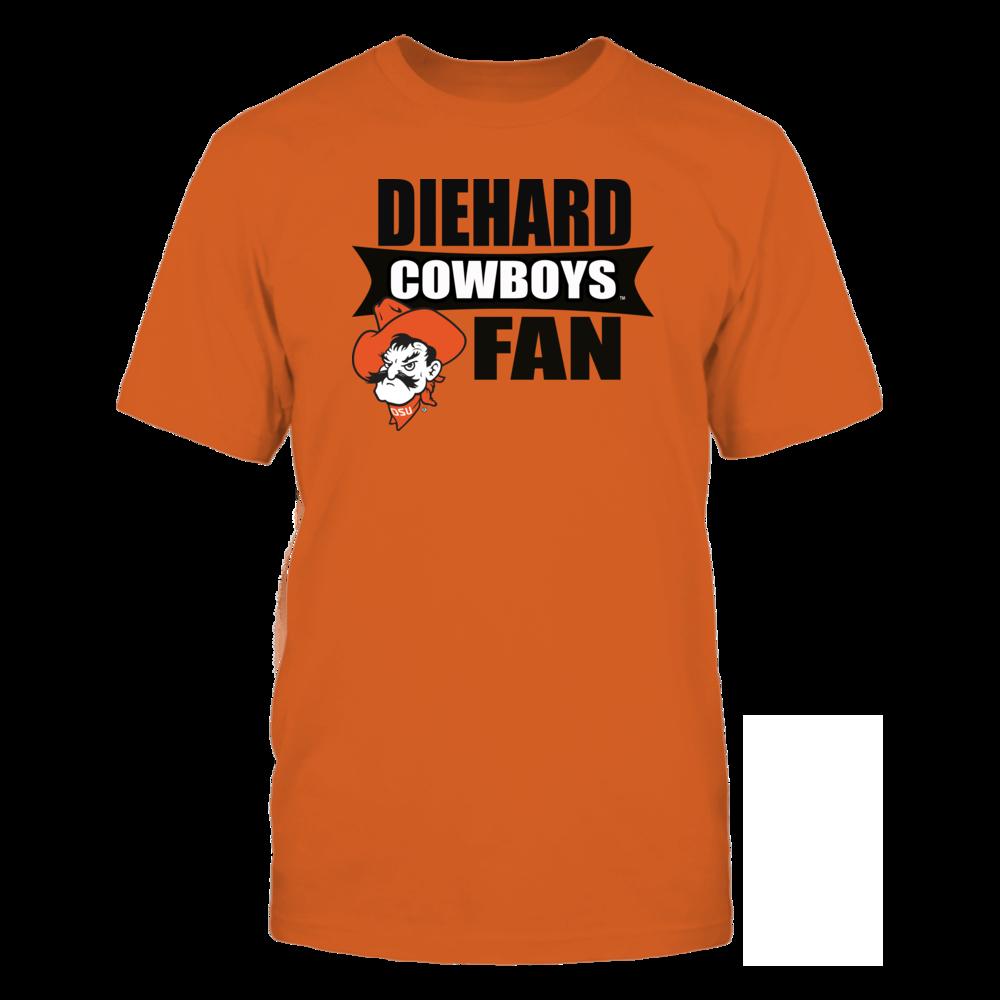 Oklahoma State University Merchandise - Diehard Fan Shirt & Stickers Front picture