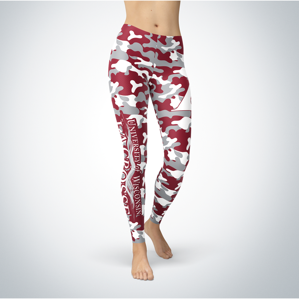 Camo Leggings - Wisconsin-La Crosse Eagles Front picture