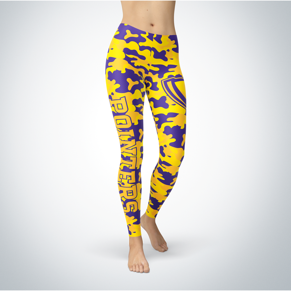 Camo Leggings - Wisconsin-Stevens Point Pointers Front picture