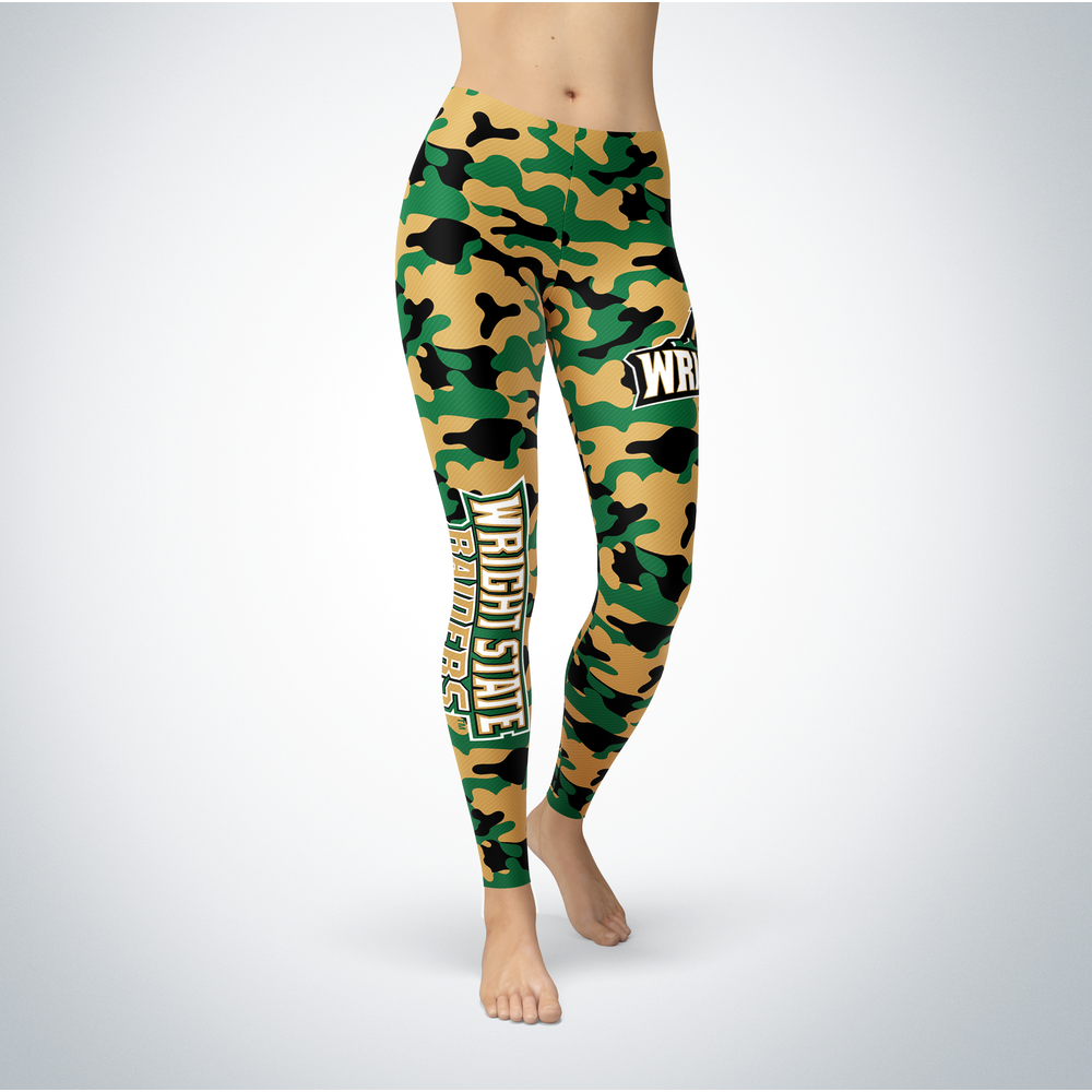 Camo Leggings - Wright State Raiders Front picture