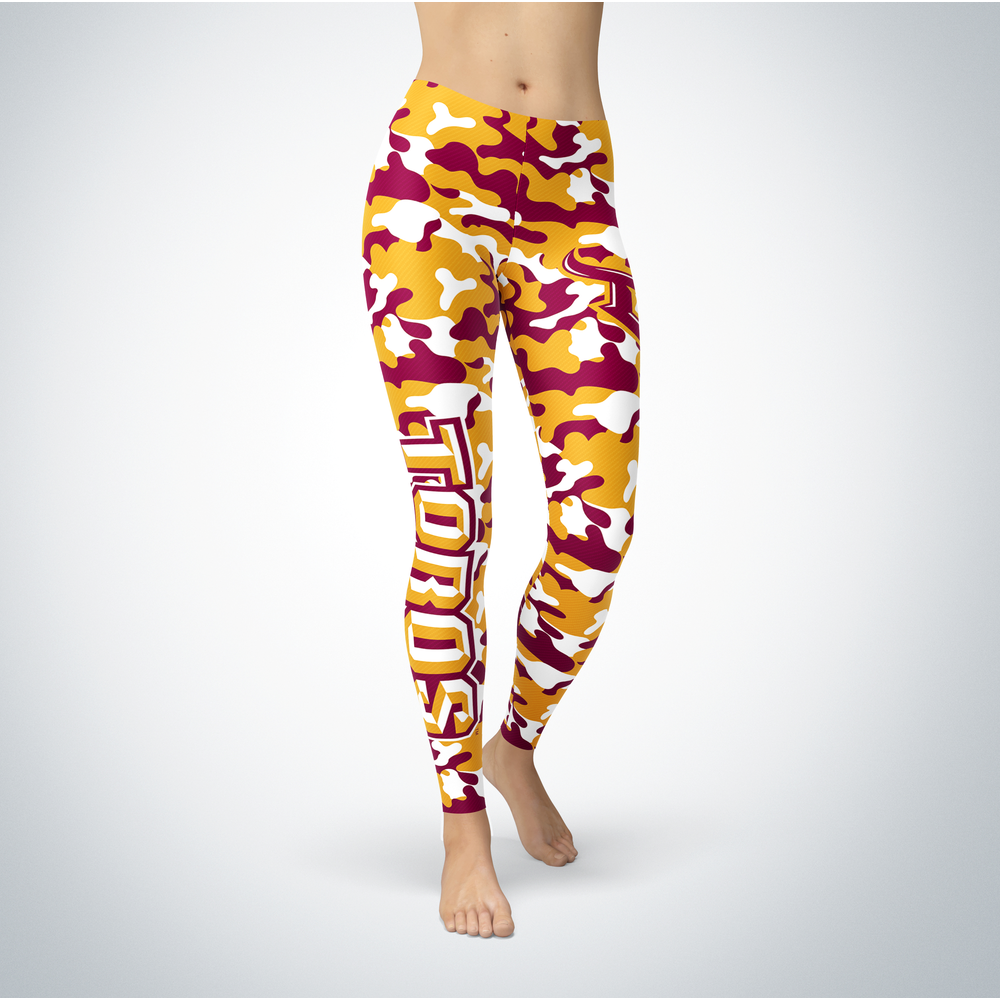 Camo Leggings - Cal State Dominguez Front picture