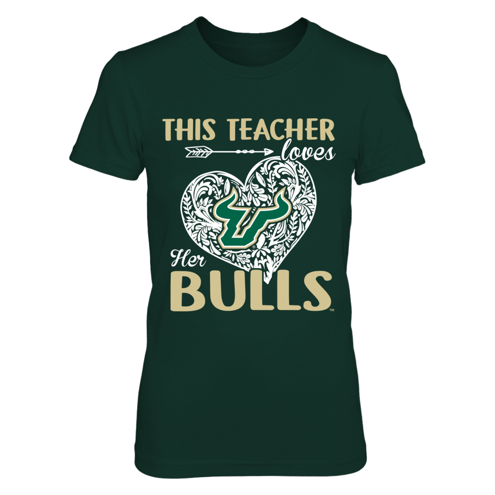 South Florida Bulls - This Teacher Loves Her Team Front picture