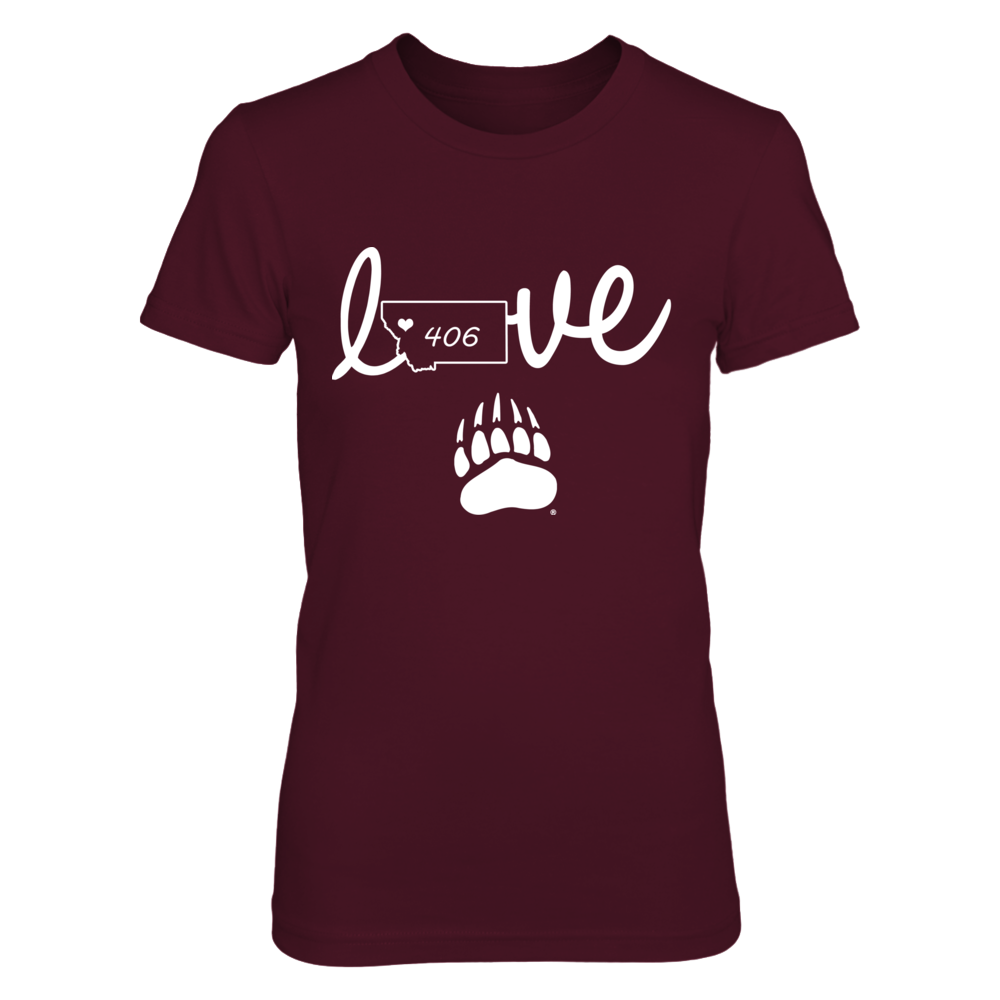 Montana Grizzlies - Love - State Love Outline Front picture