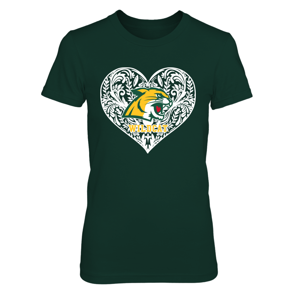 Northern Michigan Wildcats - Pattern Heart Front picture