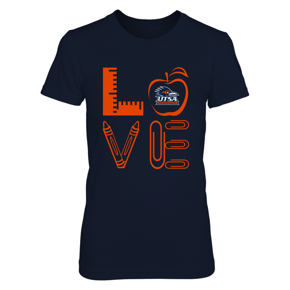 UTSA Roadrunners - Stacked Love - Teachers Things Front picture