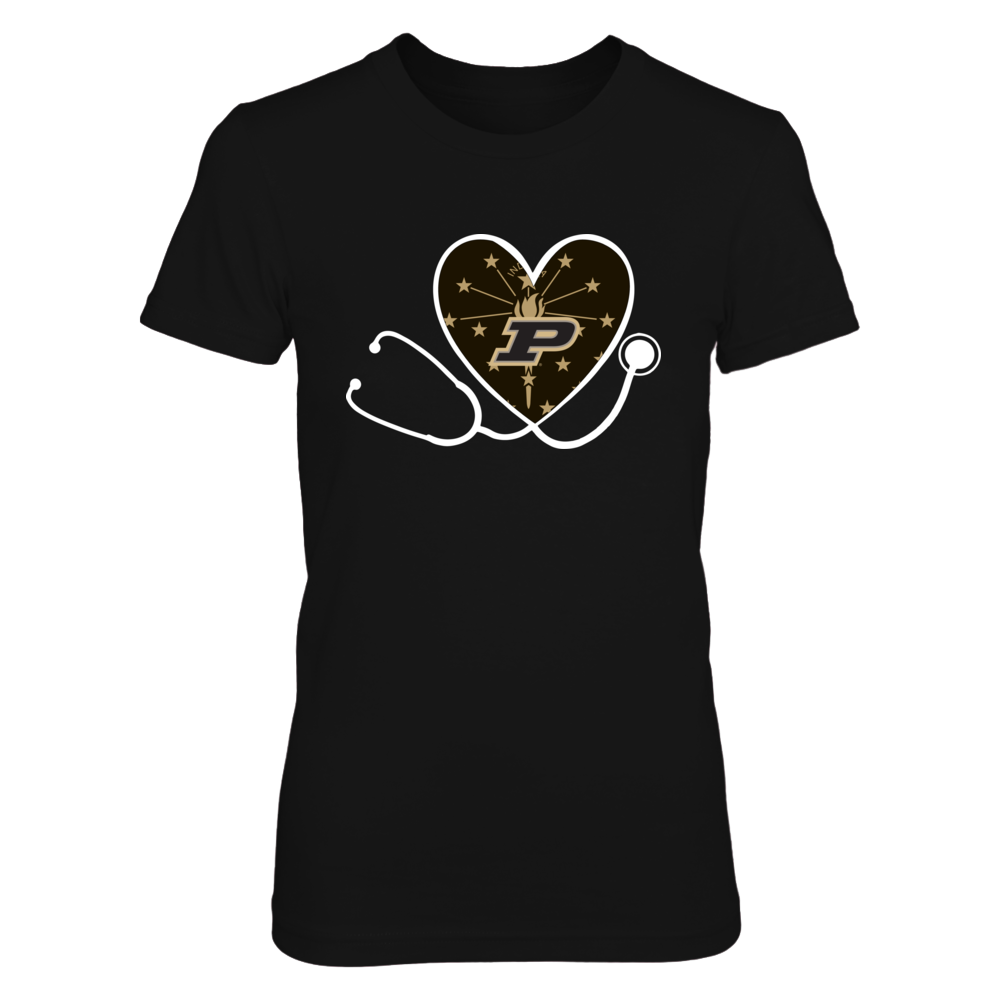 Purdue Boilermakers - Heart Stethoscope - State Flag Front picture