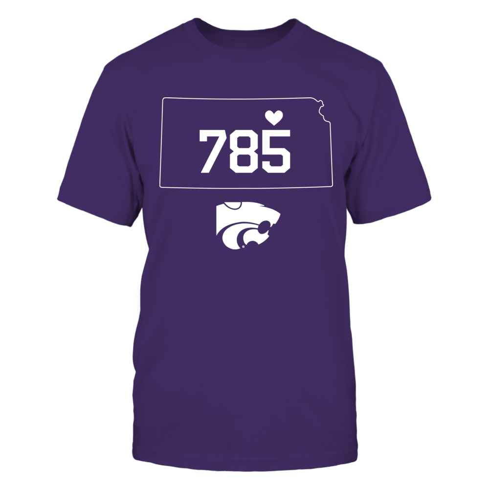 Kansas State Wildcats - Area Code State Outline Front picture