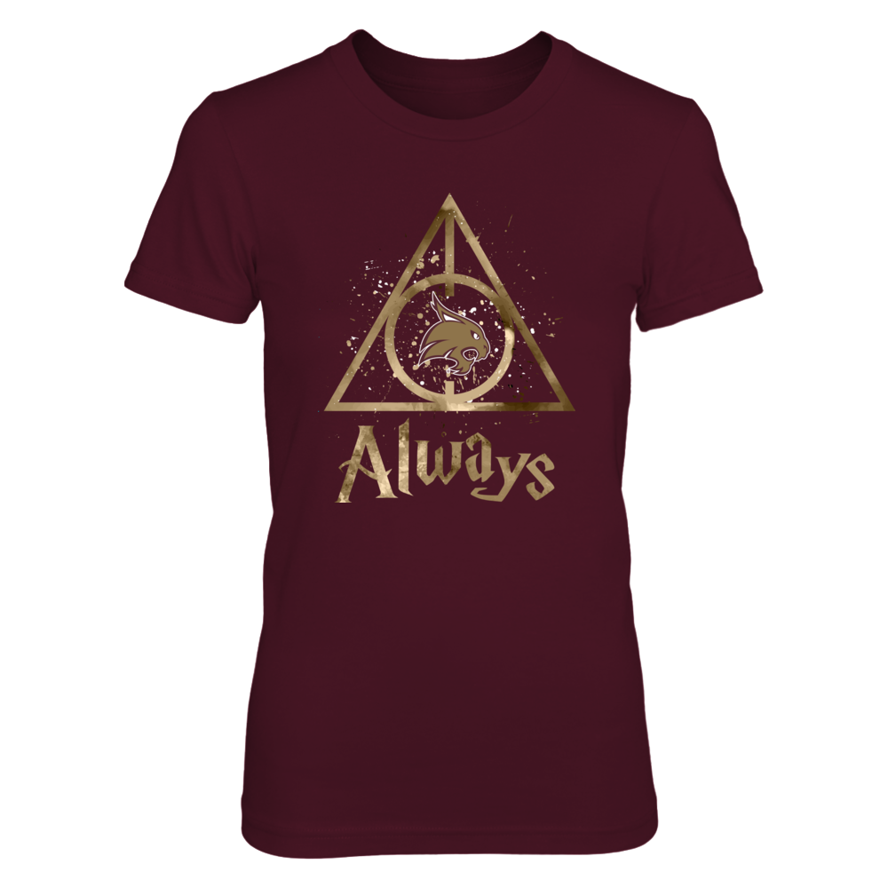 Texas State Bobcats - Color Drop Deathly Hallows Front picture