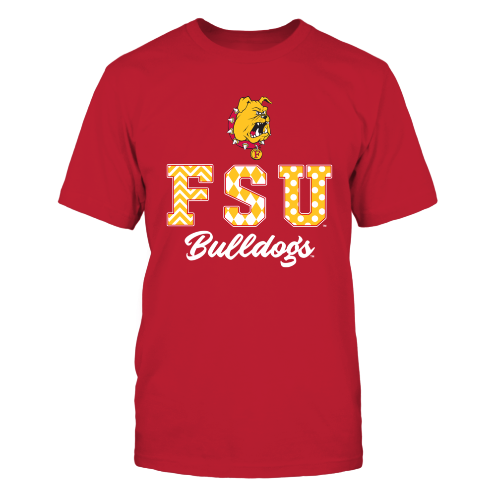 Ferris State Bulldogs - Patterned Letters Front picture