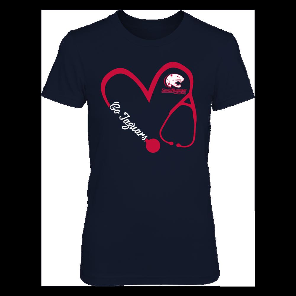 South Alabama Jaguars - Heart 3/4 - Nurse Front picture