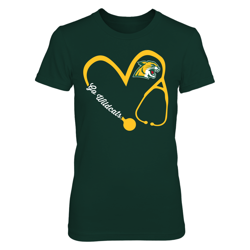 Northern Michigan Wildcats - Heart 3-4 - nurse Front picture