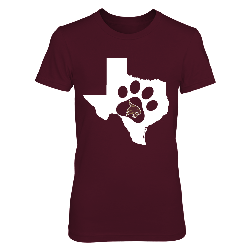 Texas State Bobcats - Cat Paw Print Front picture