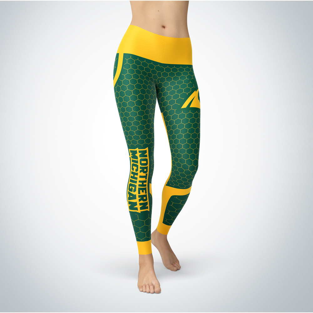 Sporty Design  - Northern Michigan Wildcats Leggings Front picture