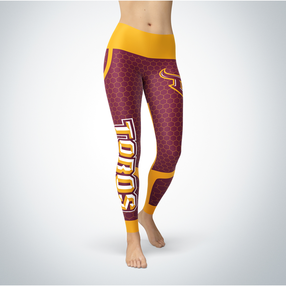 Sporty Design - Cal State Dominguez Hills Toros Leggings Front picture