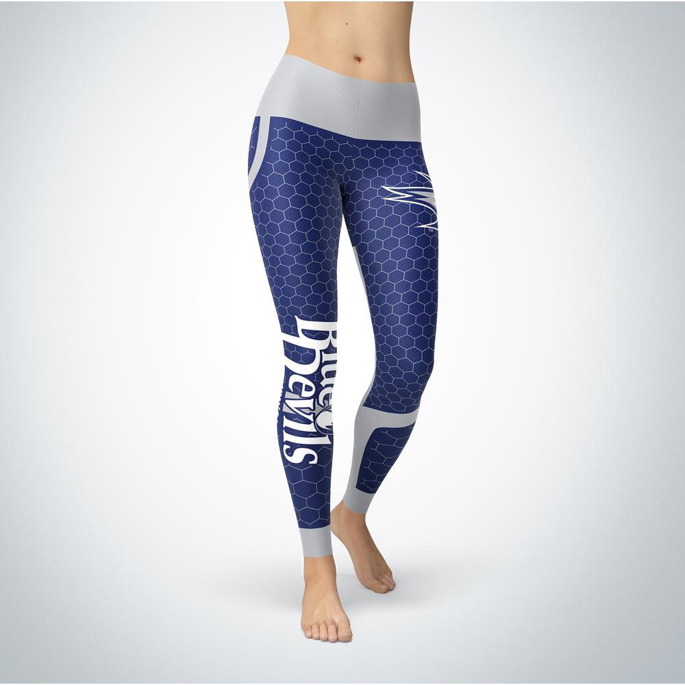Sporty Design - Wisconsin Stout Blue Devils Leggings Front picture