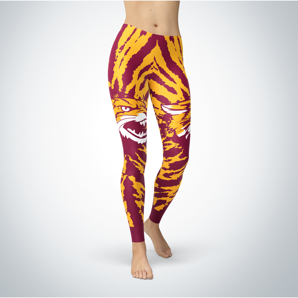Tie Dye Design - Bethune-Cookman Wildcats Leggings Front picture