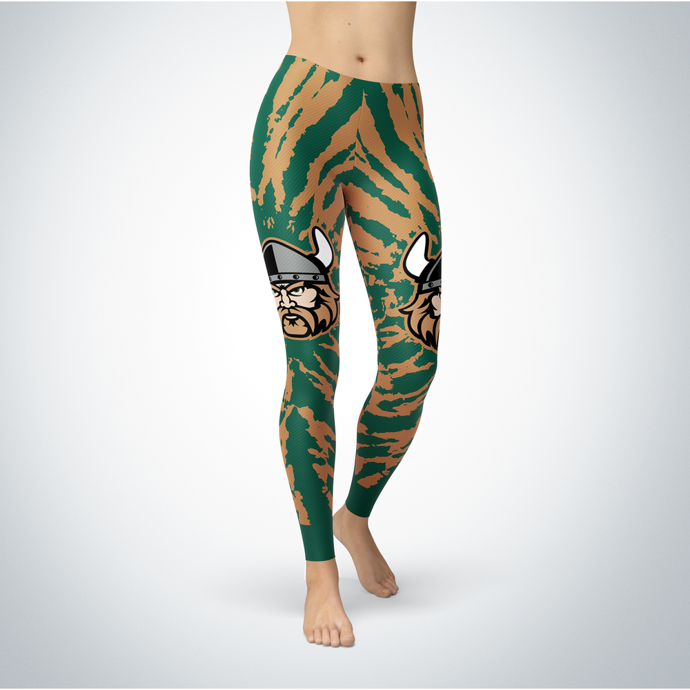 Tie Dye Design - Cleveland State Vikings Leggings Front picture