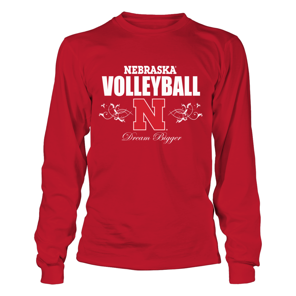Univ. Nebraska Volleyball Shirts- Dream Big Front picture