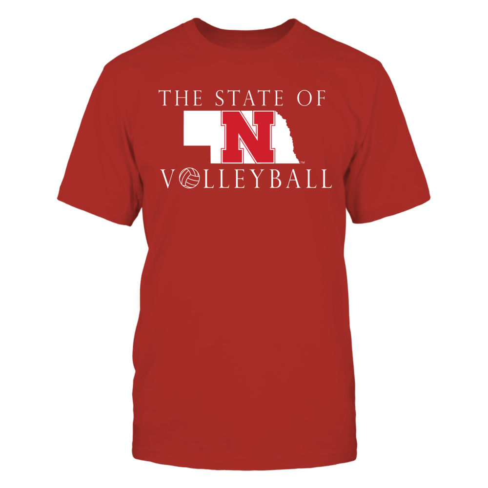 Nebraska Volleyball Apparel - The State of Volleyball in Nebraksa Front picture