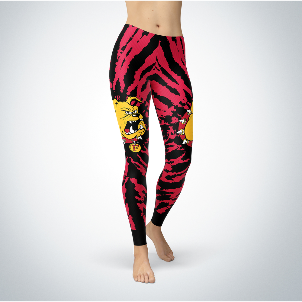Tie Dye Design - Ferris State Bulldogs Leggings Front picture