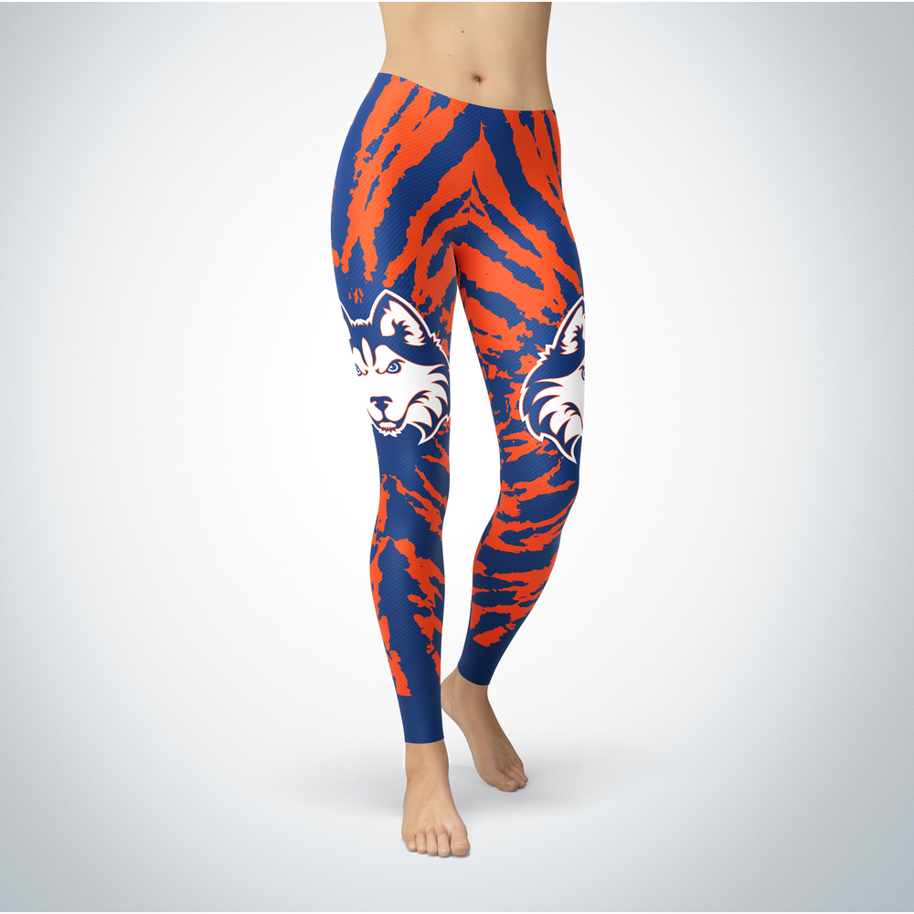Tie Dye Design - Houston Cougars Leggings Front picture