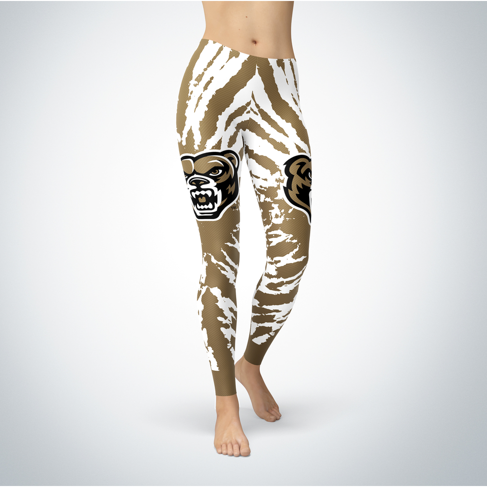 Tie Dye Design - Oakland Golden Grizzles Leggings Front picture
