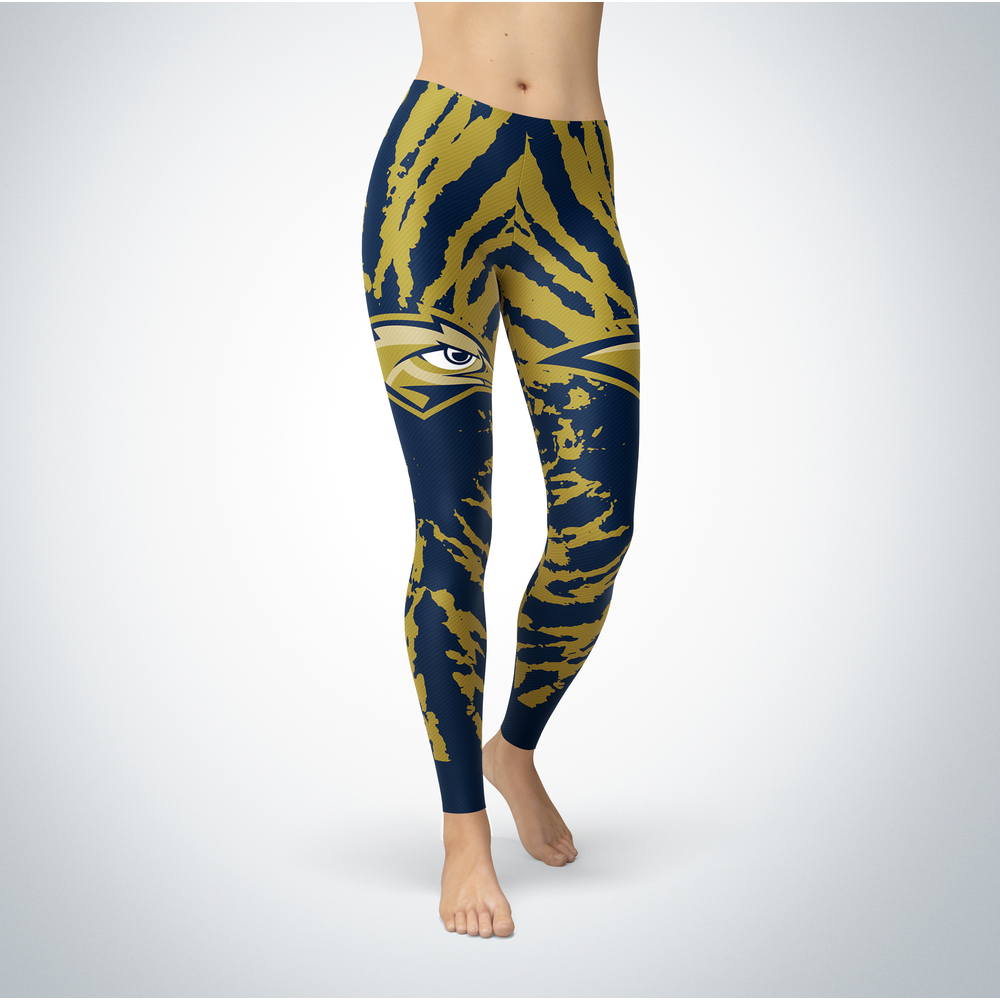Tie Dye Design - Oral Roberts Golden Eagles Leggings Front picture