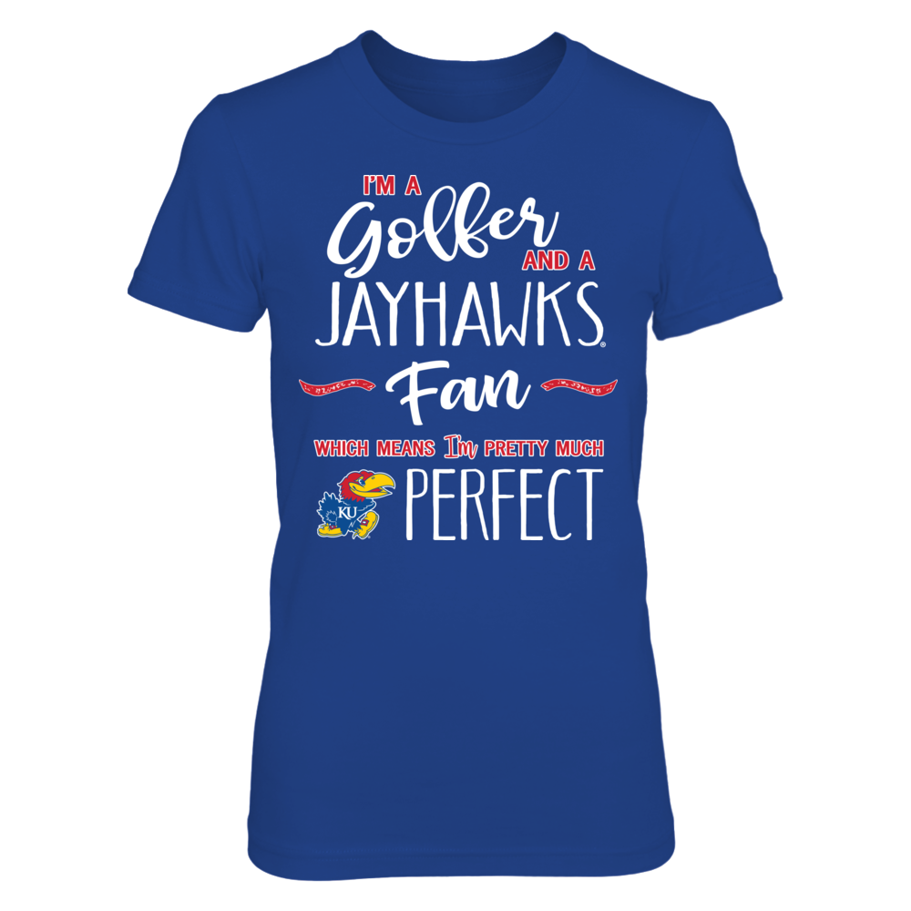 Perfect Golfer Kansas Jayhawks Fan T-Shirt | Tank Front picture